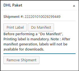 DHL Before Printing Label