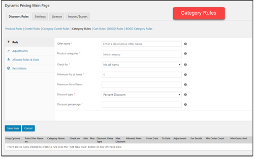 ELEX WooCommerce Dynamic Pricing   Category Rules