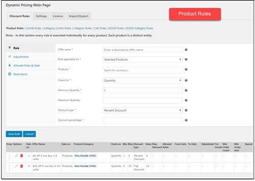 ELEX WooCommerce Dynamic Pricing   Product Rules