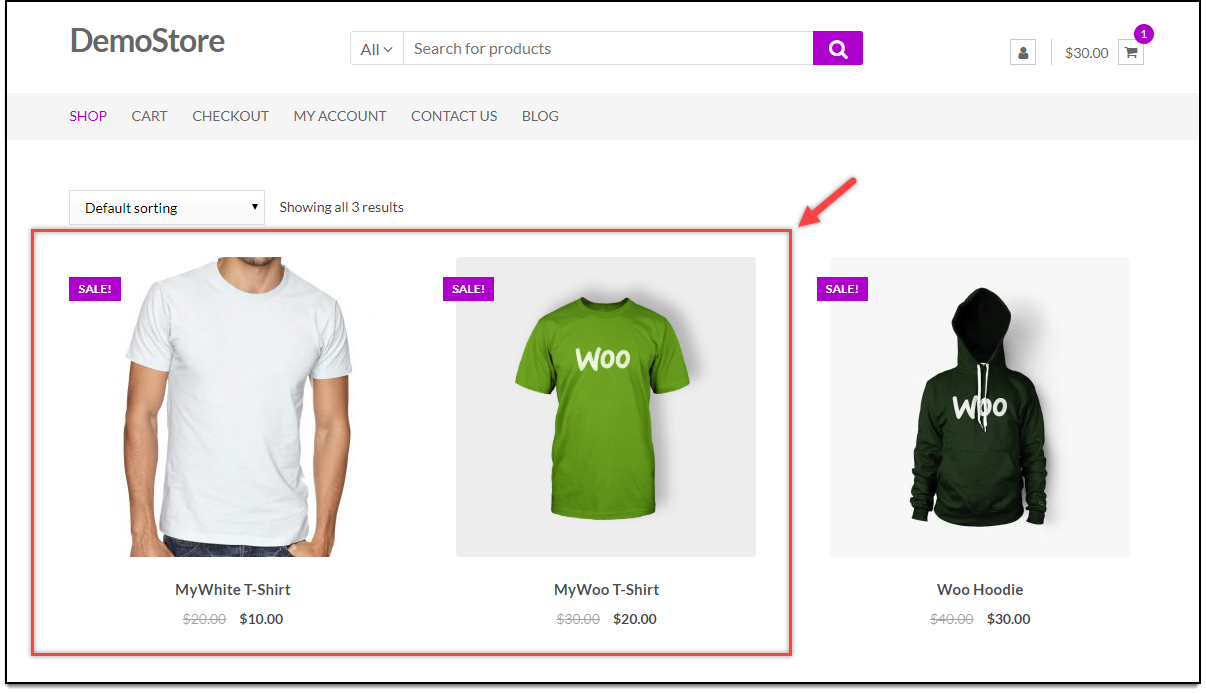 WooCommerce Bulk Edit Products | Products Available on the Shop page