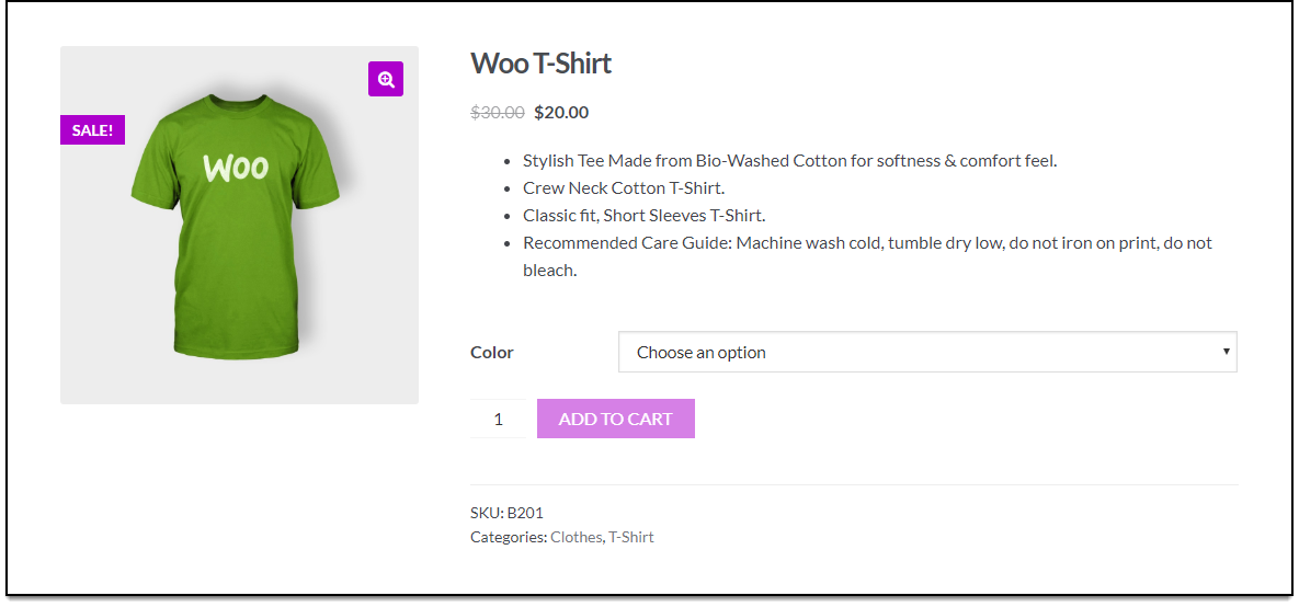 WooCommerce Bulk Edit Products | Size attribute is no longer available