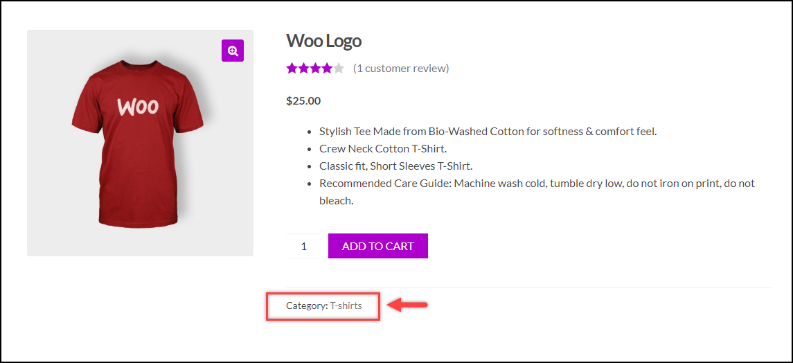 WooCommerce Bulk Edit Products | Clothing category removed