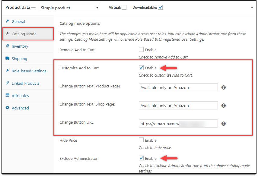 WooCommerce Catalog Mode - Catalog Mode settings for Individual Product
