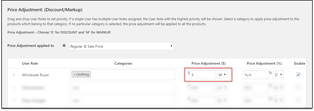 WooCommerce Role-based Pricing - Price adjustments for Wholesale buyers
