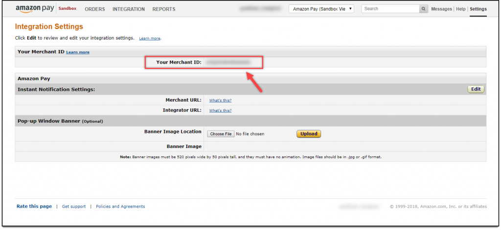 WooCommerce Amazon Payments | Merchant ID