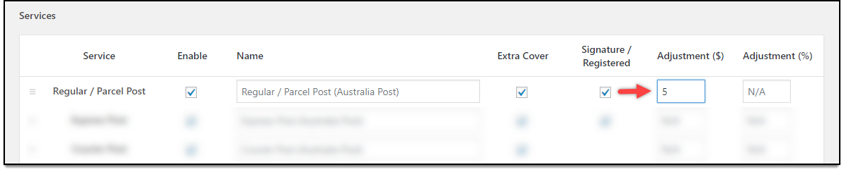 WooCommerce Australia Post Plugin | Amount Adjustment