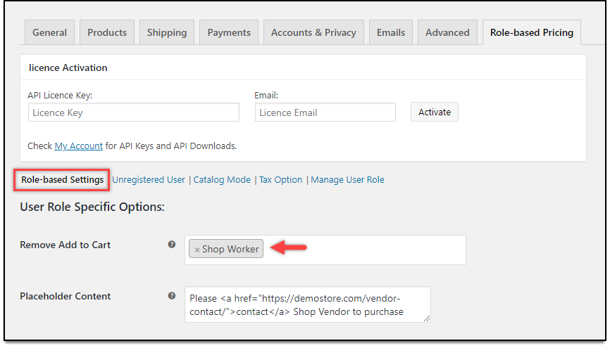 ELEX WooCommerce Role-Based Catalog Mode | Remove Add to Cart settings