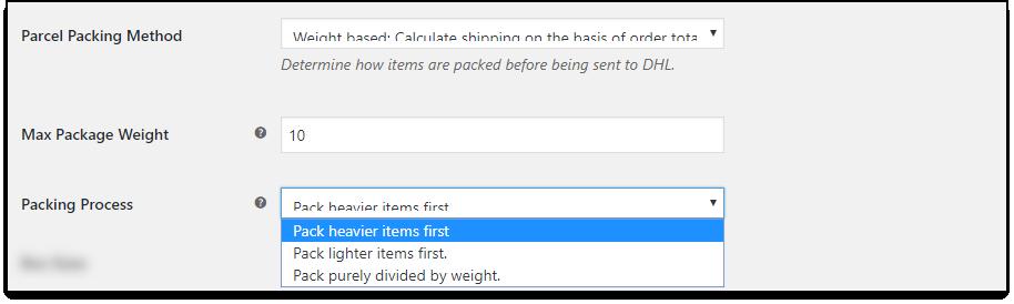 WooCommerce DHL Paket   Weight based Packing