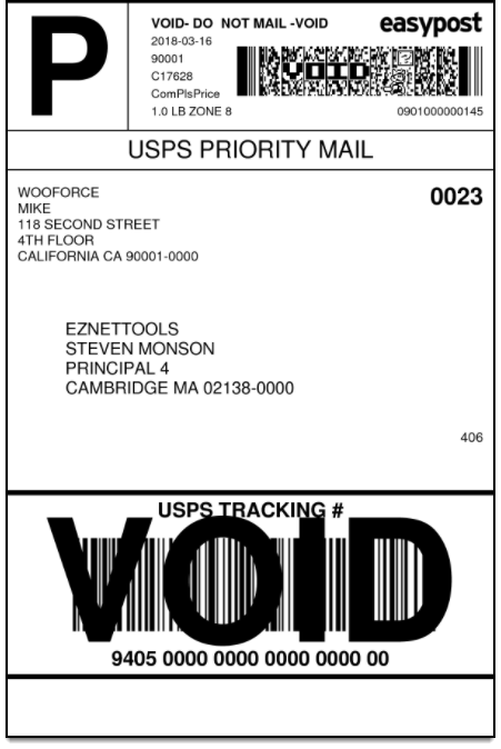 WooCommerce EasyPost Shipping | Domestic Shipping Label