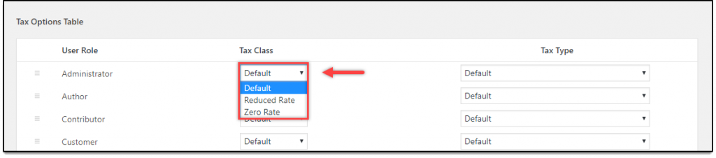 WooCommerce Role Based Pricing - Tax Classes