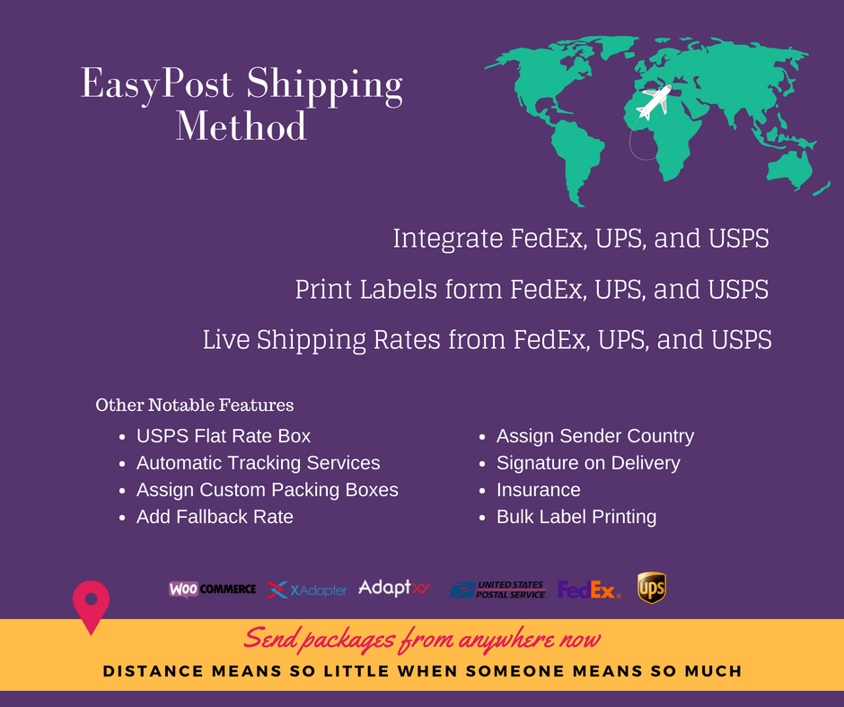 EasyPost shipping method plugin