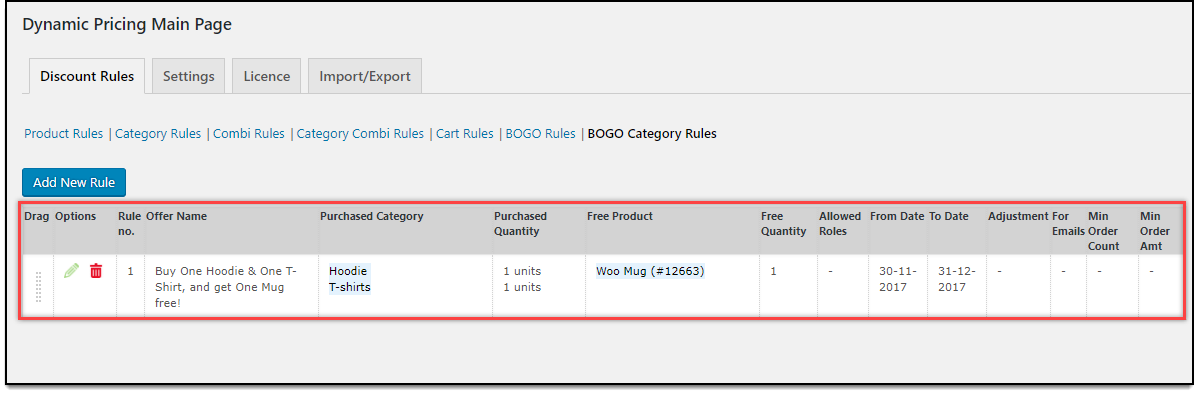 WooCommerce Dynamic Pricing & Discounts | Applying Buy One Get One Category Rule