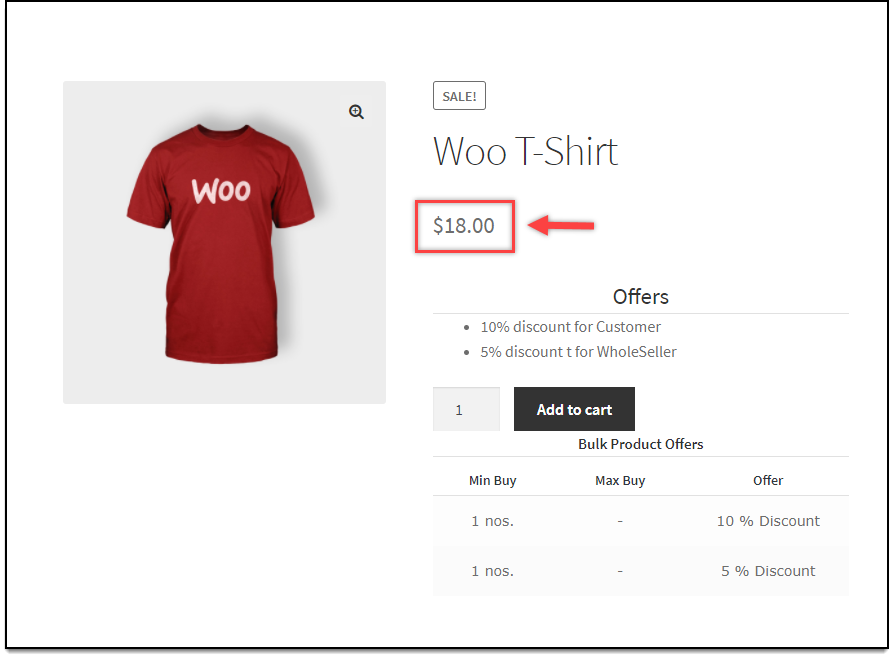 WooCommerce Dynamic Pricing and Discounts | Price display in Product page