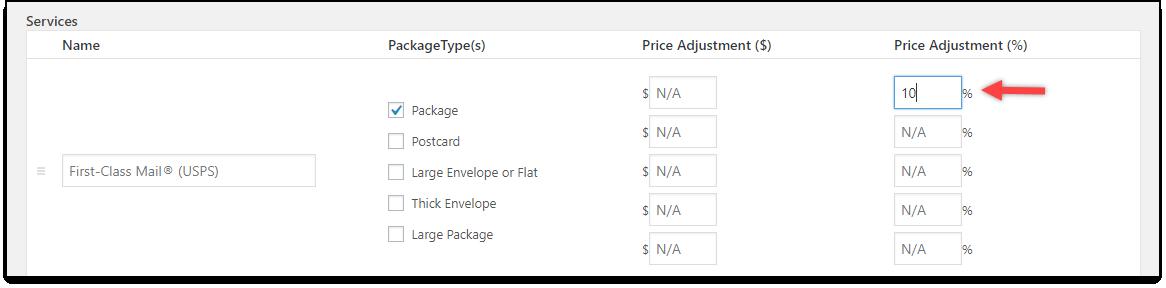 WooCommerce Stamps.com-USPS | Percentage Adjustment