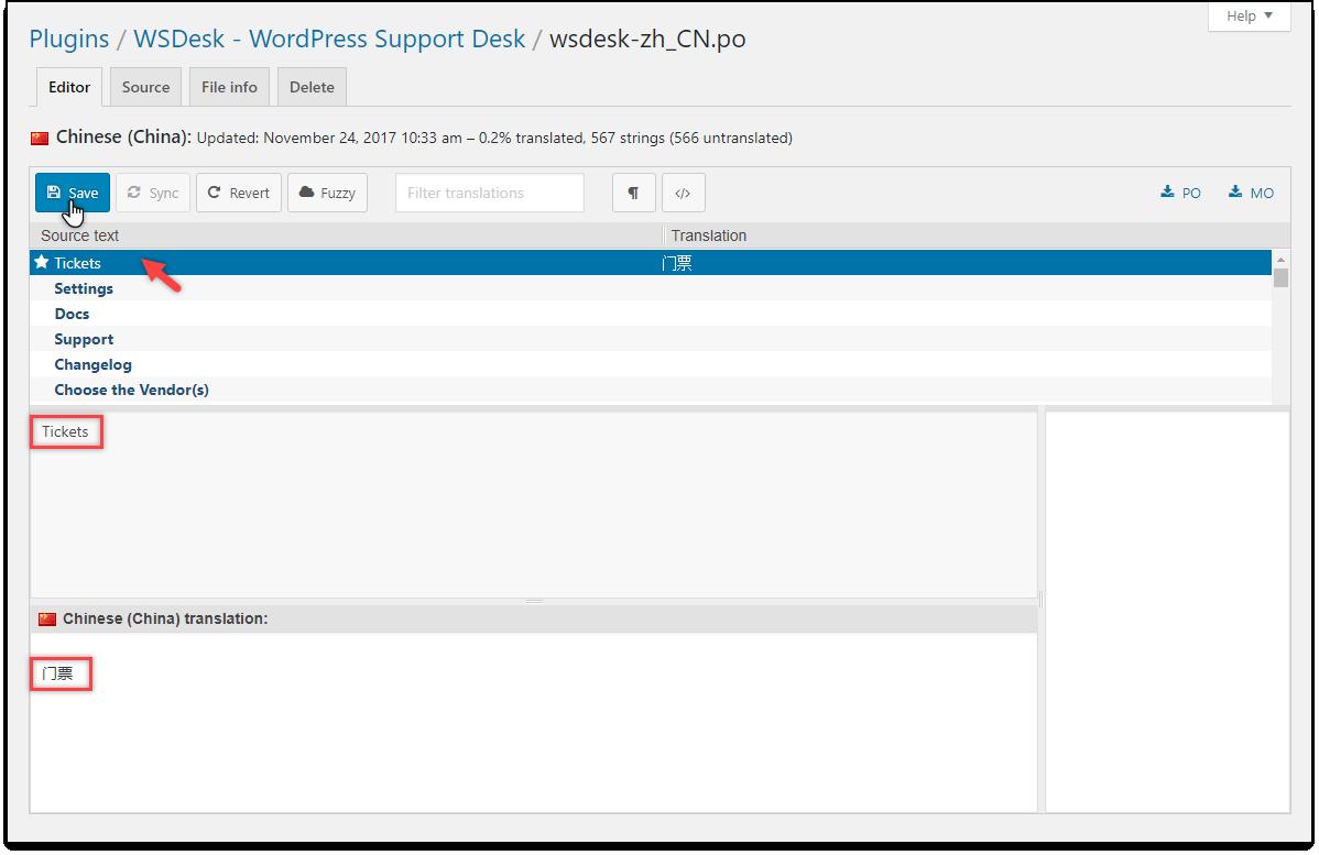 WSDesk - WordPress HelpDesk   Language Translation