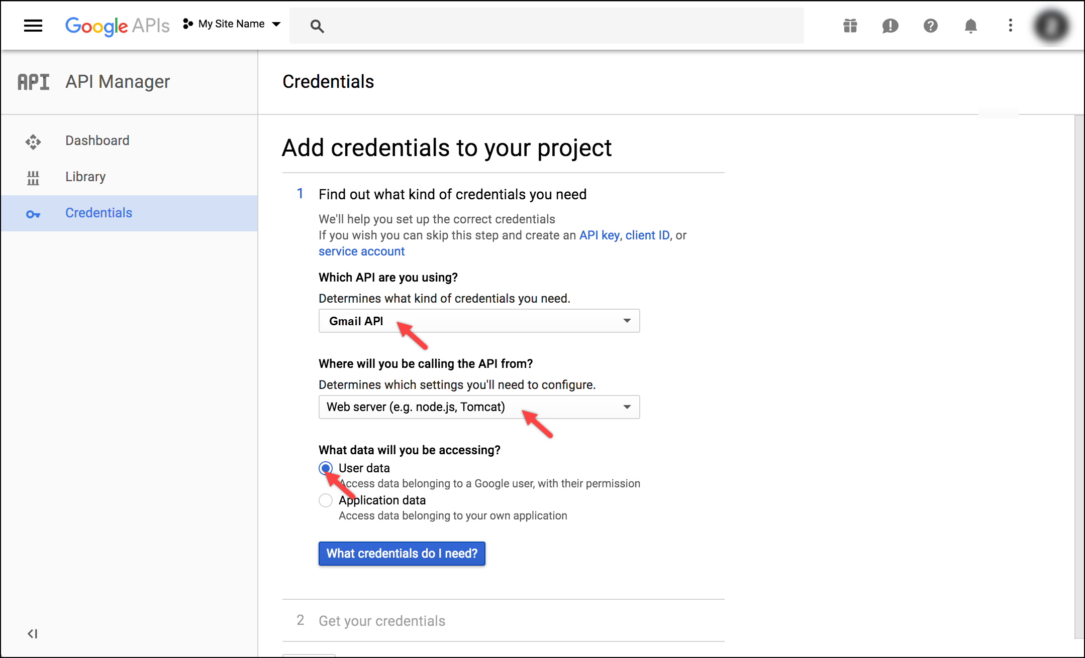 WSDesk Google OAuth | Adding credentials to your project