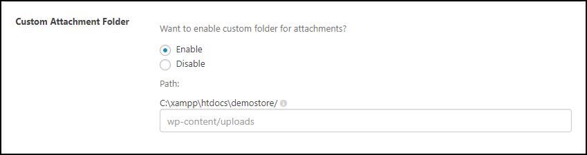 WSDesk | Custom Attachment Folder
