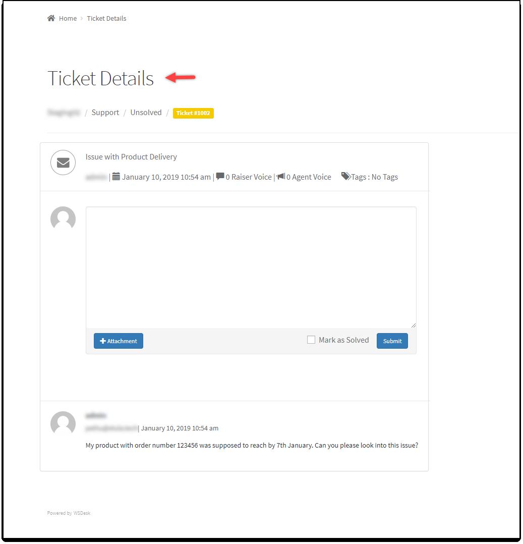 WSDesk Quick Setup Wizard   Sample Ticket Conversation
