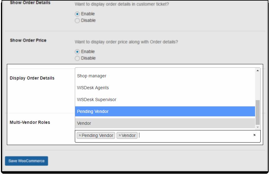 WSDesk Multi-Vendor Roles