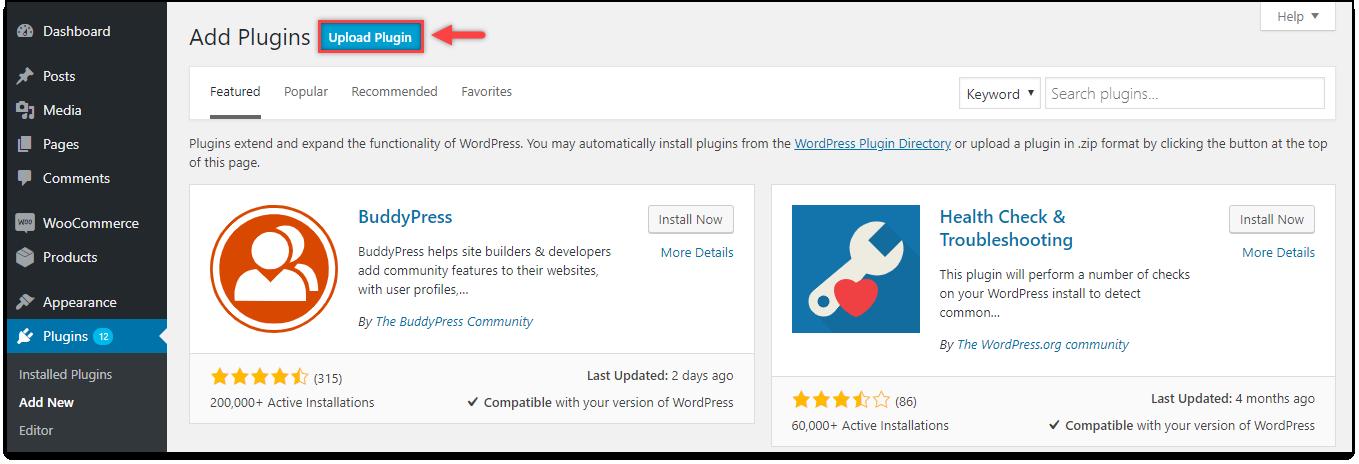Download, Install, & Activate ELEX Plugins | Upload Plugin