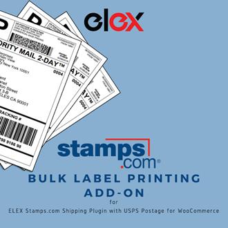 ELEX WooCommerce Stamps com USPS Bulk Label Printing Add-On