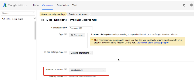 Selecting Shopping Ads Campaign Google Shopping Ads WooCommerce Google Product Feeds