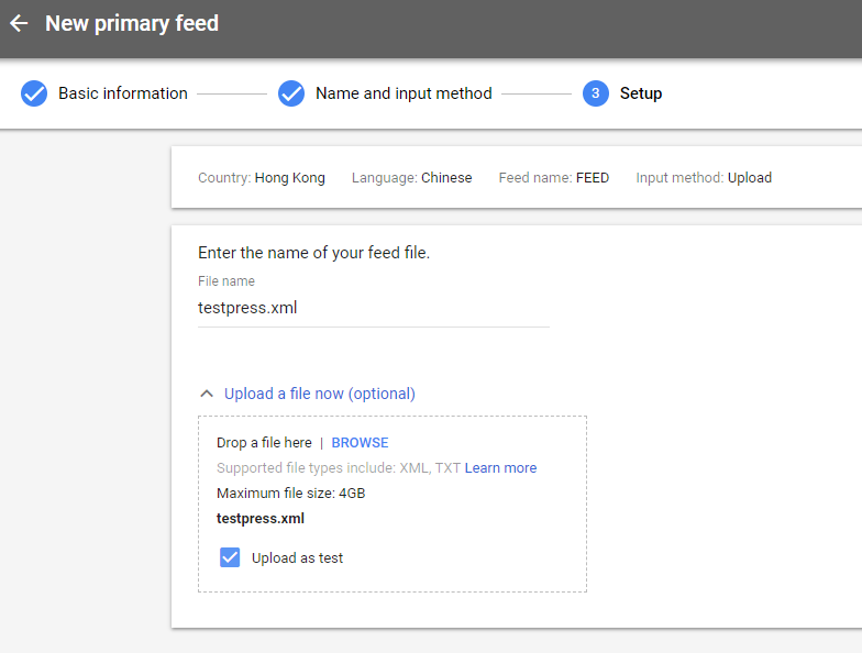 ELEX Google Product Feed Plugin Uploading Generated Feed WooCommerce Google Product Feeds